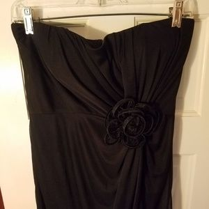 Black dress with rose